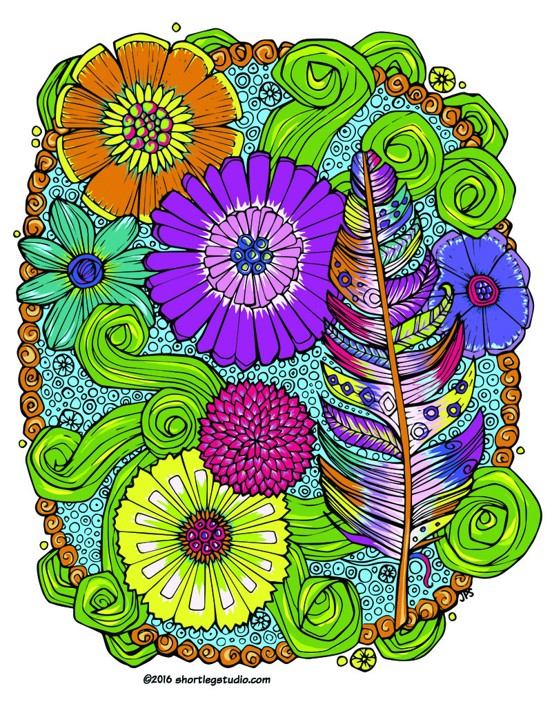 feather and flowers meditative coloring page color.jpg