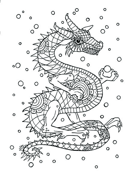Bubble Dragon Coloring Page