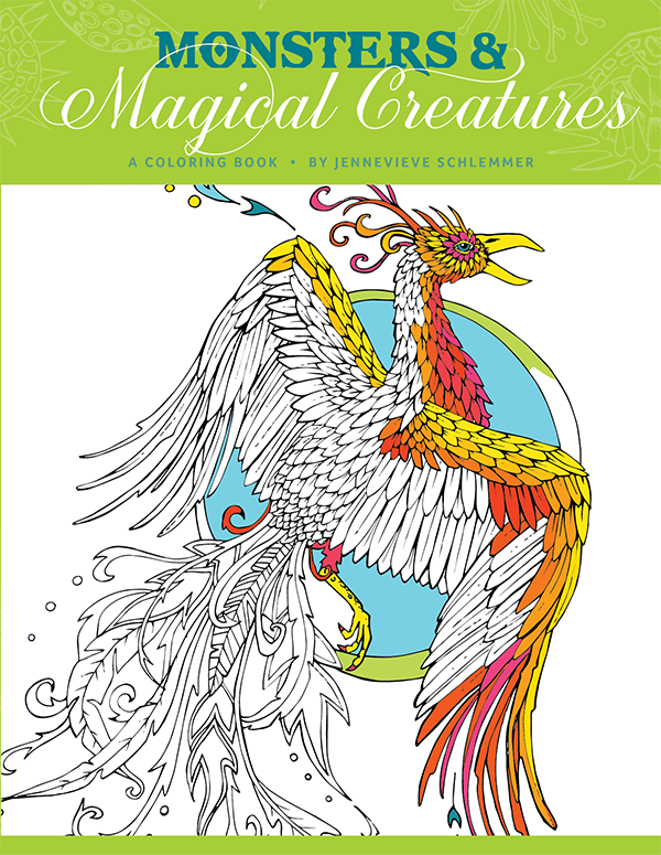 Monsters and Magical Creatures Coloring Book