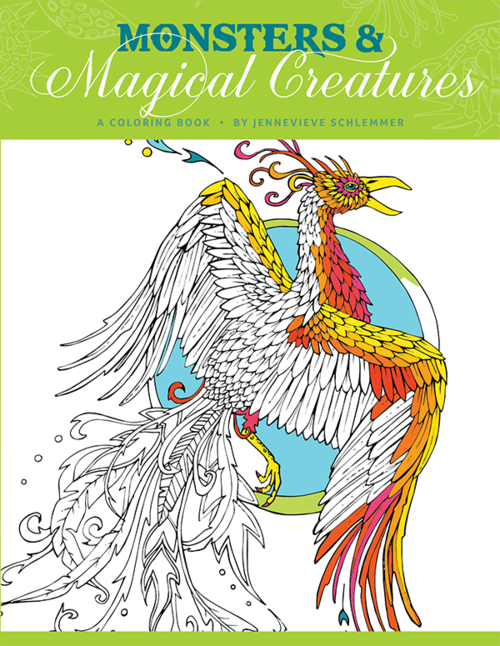 Monsters Magical Creatures Coloring Book