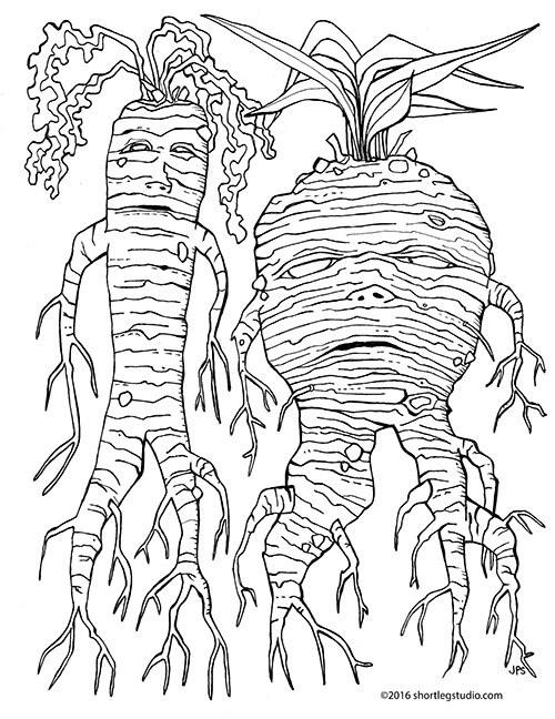Mandrake Coloring Sheet