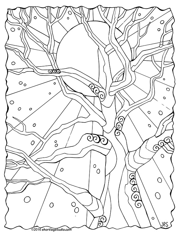 Winter Solstice Coloring Sheet