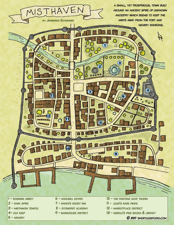 Misthaven Town Map