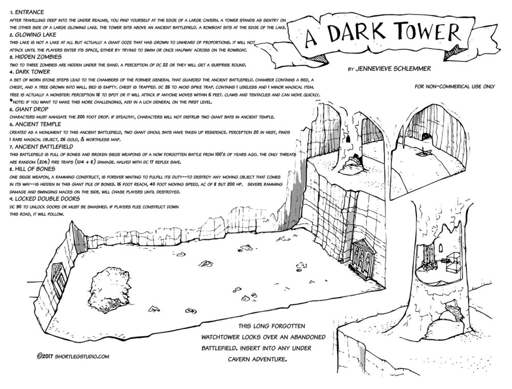 A Dark Tower Under the Dark