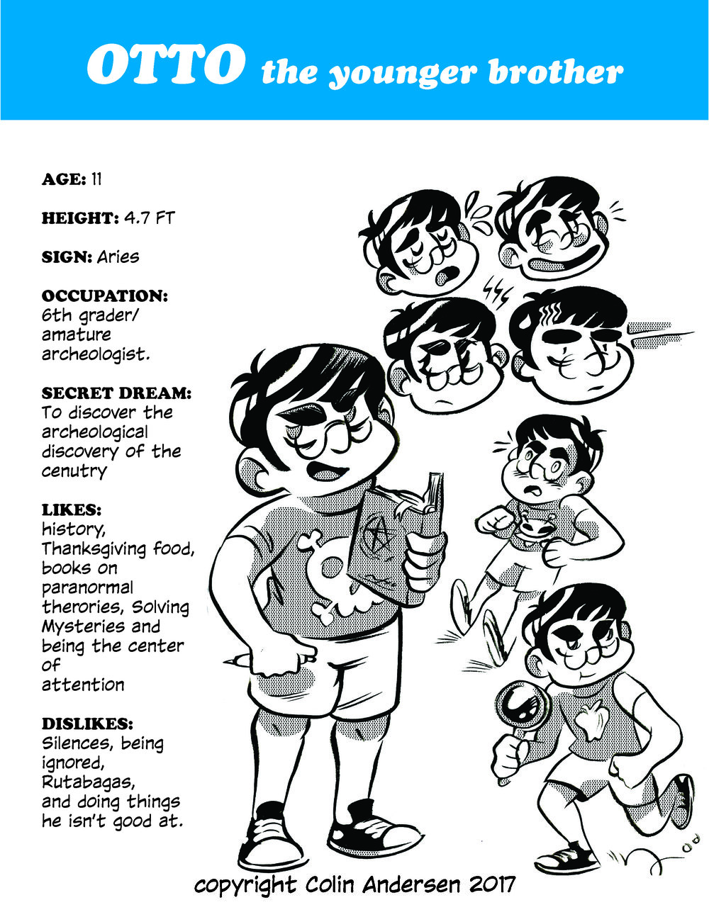 Character sheet by Colin Andersen.