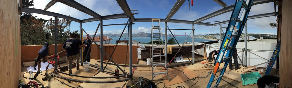 Custom Steel and Glass Rooftop Solarium