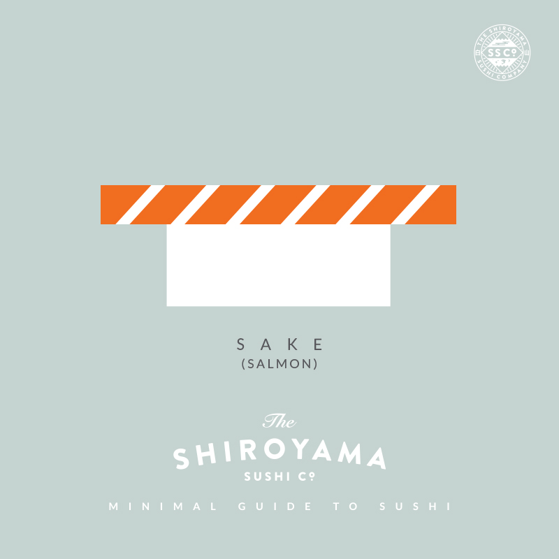 "Sake (Salmon) originated in US as a way of appealing to the American palette, but has now become a staple of any good Sushi bar. Of all the nigiri it is also the healthiest, as Sake is loaded with Omega 3s and is high in protein. - from the  The Shiroyama Sushi Co. ""Minimal Guide To Sushi"""