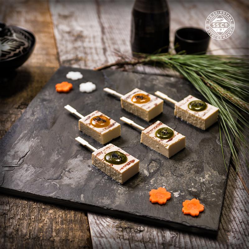 Flying In Formation  Tofu Dengaku with our signature Shiroyama miso     The Shiroyama Sushi Co.