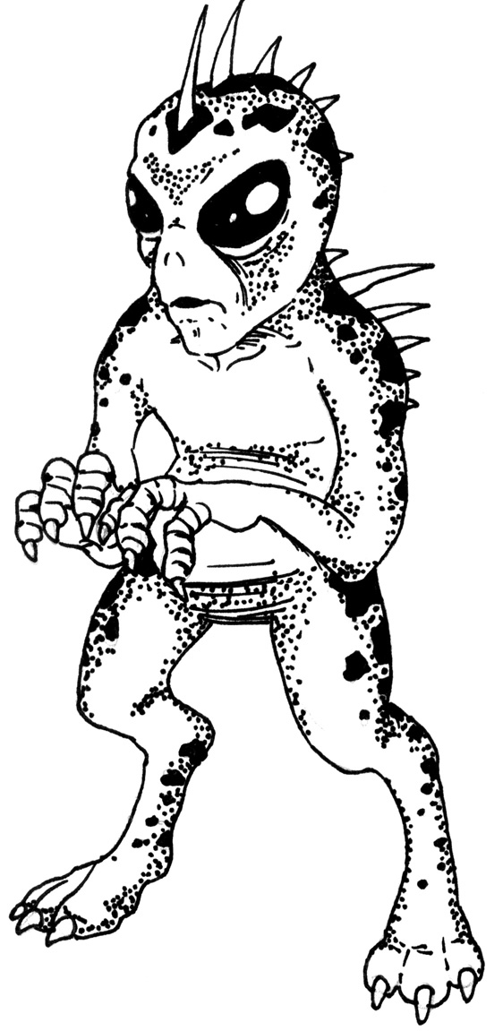 Graphic depiction of Chupacabra by  LiCire on Wikipedia .