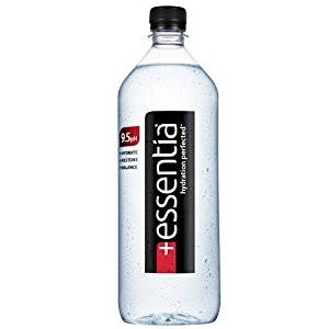 Check out at the studios essentia water. It is purified, enhanced with pure minerals, and electrolyte infused; and at a pH of 9.5.