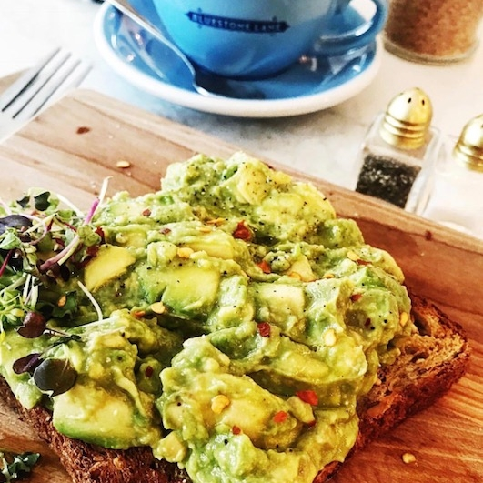 If you can't whip an avocado toast up at home like Michelle, our fav is here at Bluestone on Washington Street!
