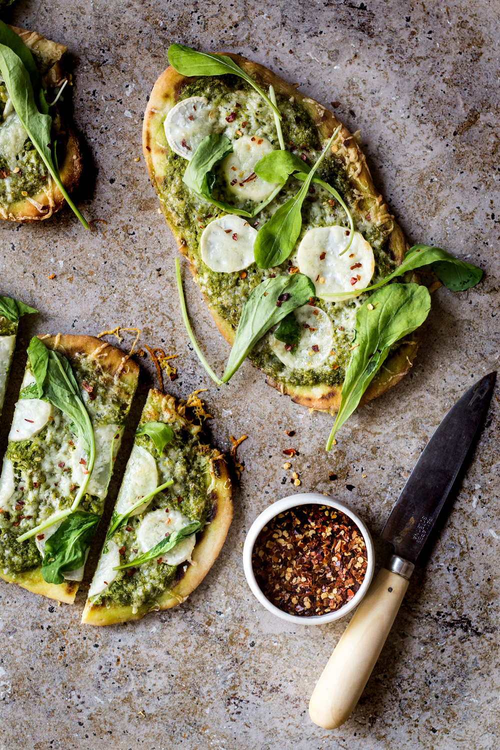 Turnip Green Pesto Pizza