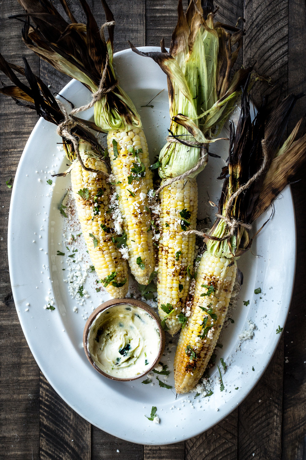 Grilled Corn with Jalapeño-Honey Butter