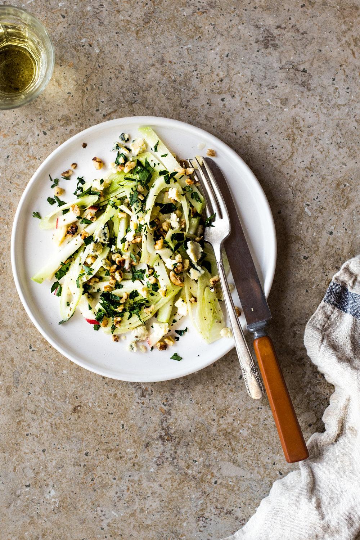Apple Fennel & Kohlrabi Salad