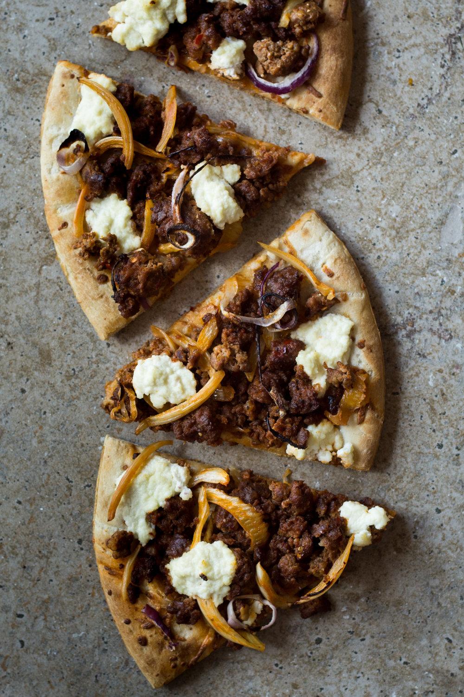 Sausage Fennel & Ricotta Pizza
