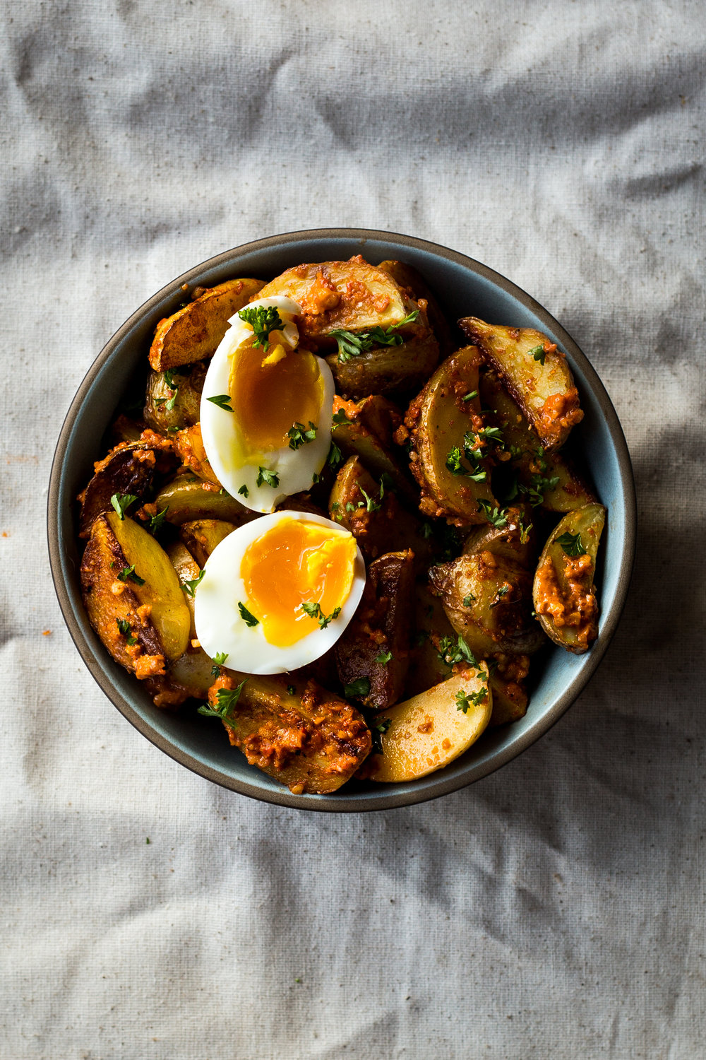 Roasted Potatoes with Romesco Sauce
