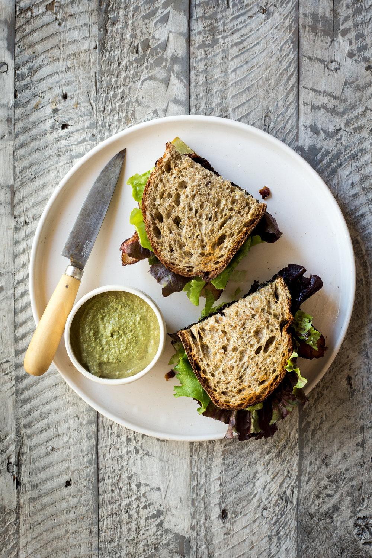 The BLK Sandwich (AKA --Bacon Lettuce & Kohlrabi)