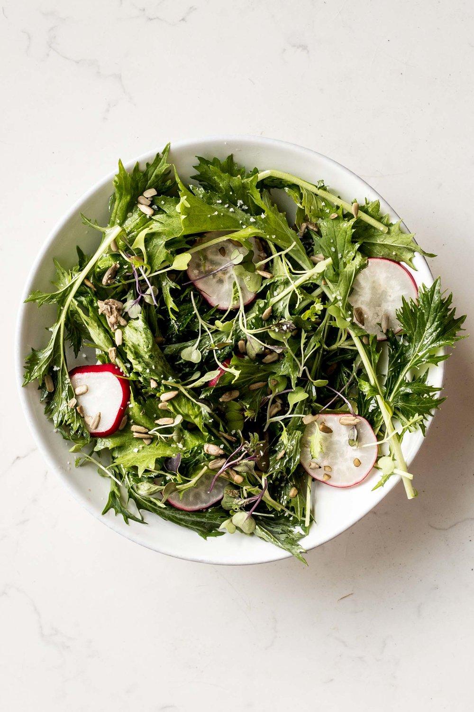 Simple Mizuna Salad