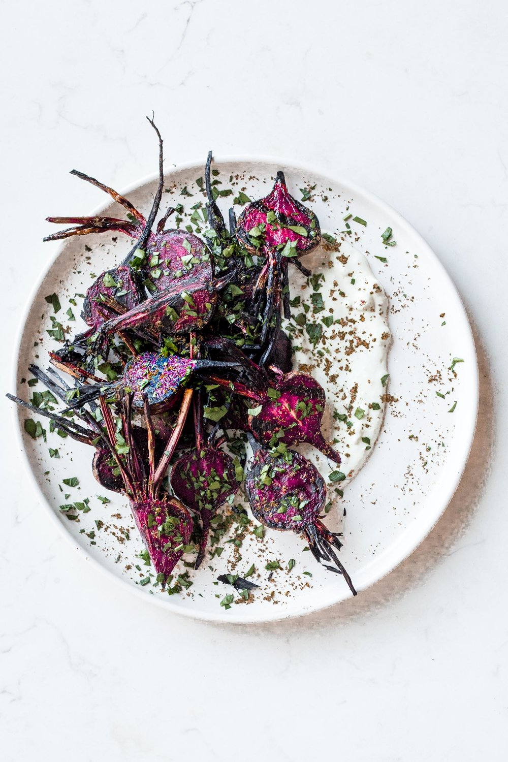 Grilled Beets with Za'atar Yogurt Sauce