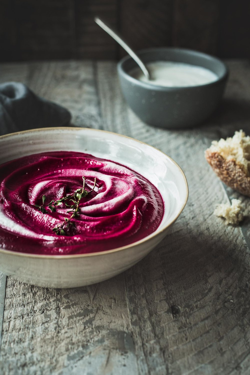 Autumn Beet Soup with Cashew Cream