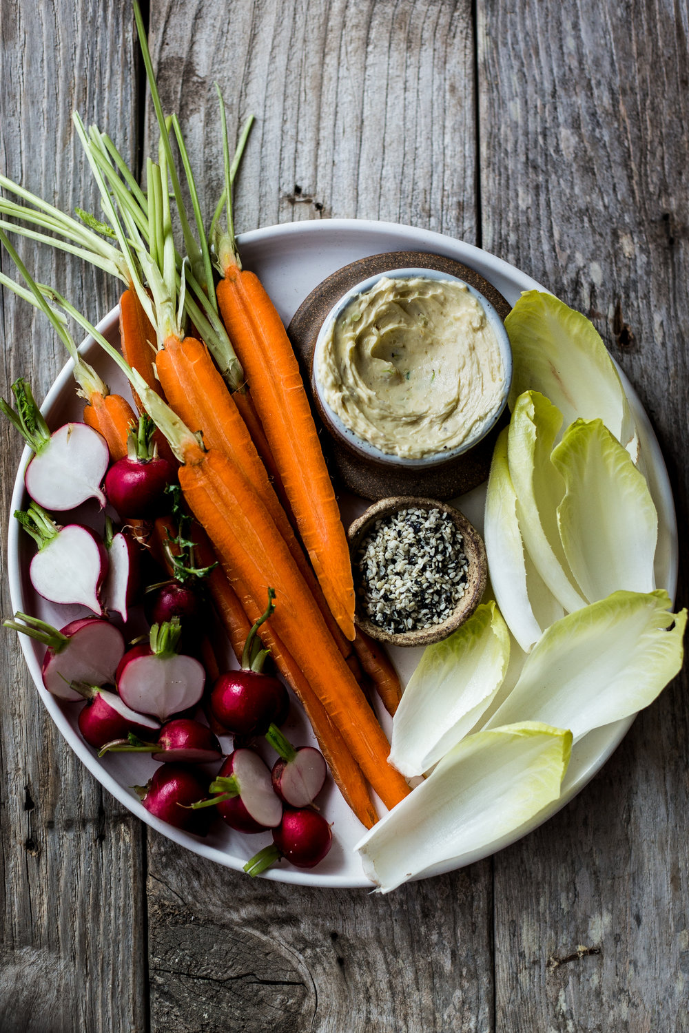 Scallion Miso Butter with Veggies