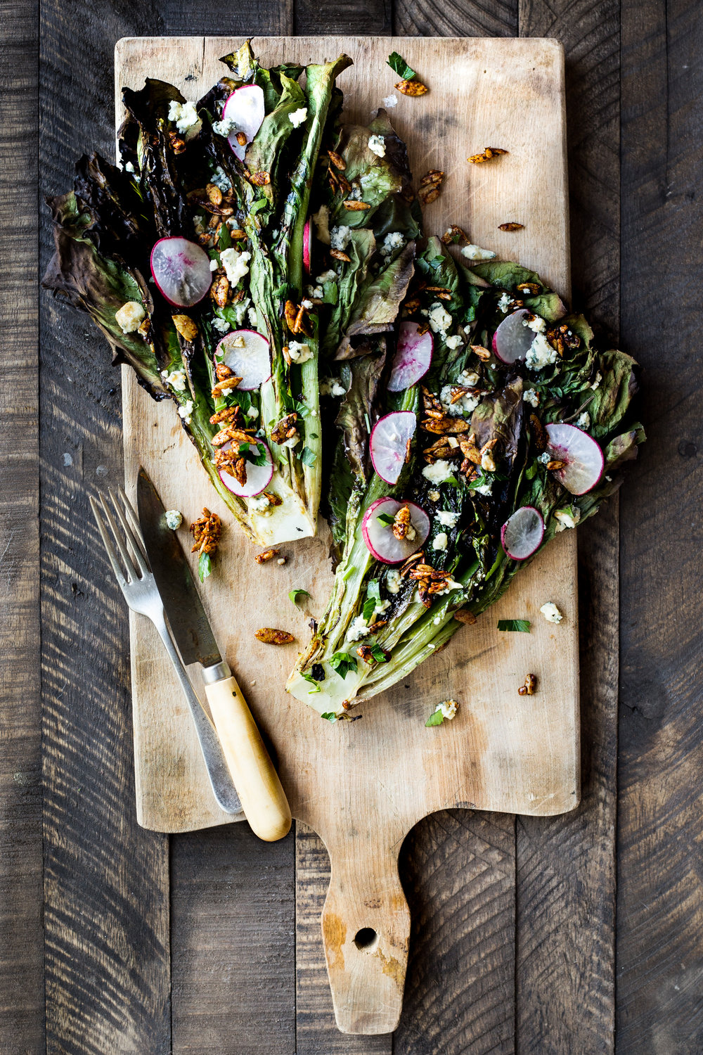 Charred Romaine with Smokey Seed Clusters