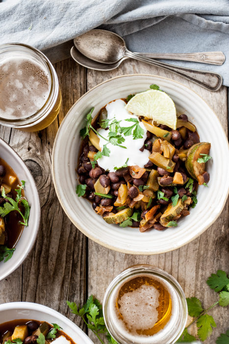 Zucchini & Black Bean Chili