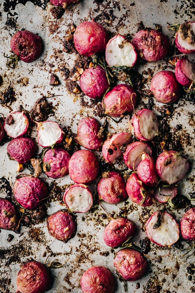Roasted Radishes with Anchovies