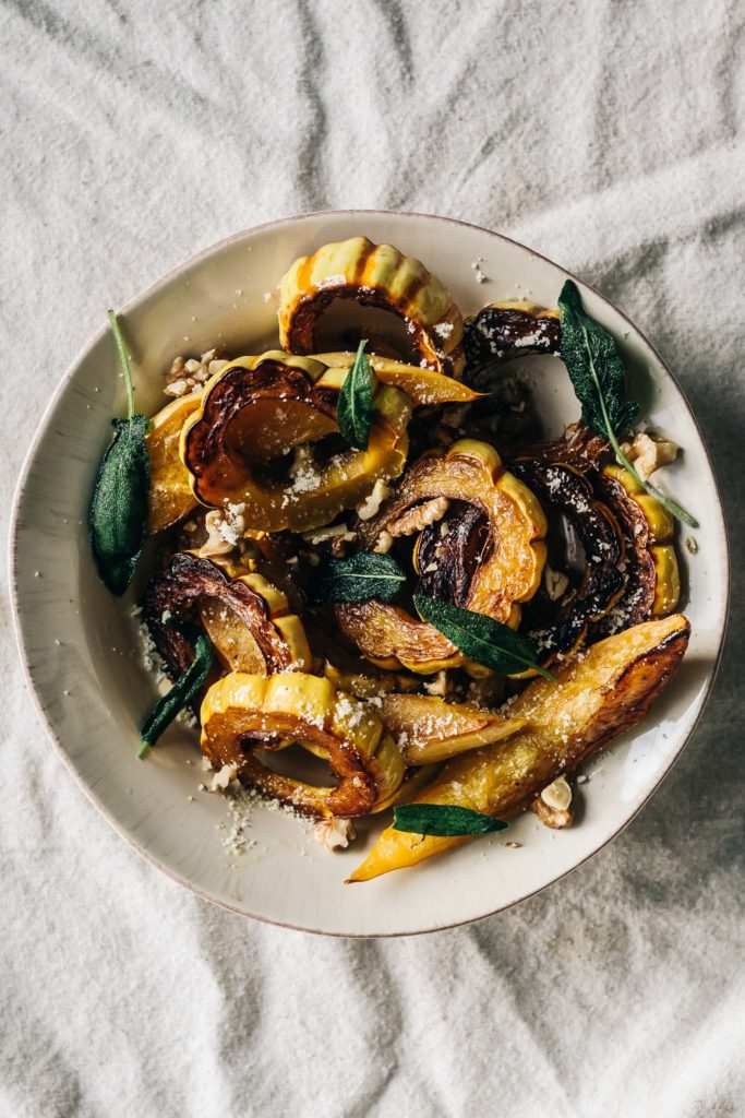 Roasted Winter Squash with Vanilla Bean Brown Butter