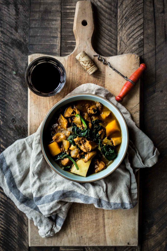 Mushroom Hunter's Potato & Squash Stew