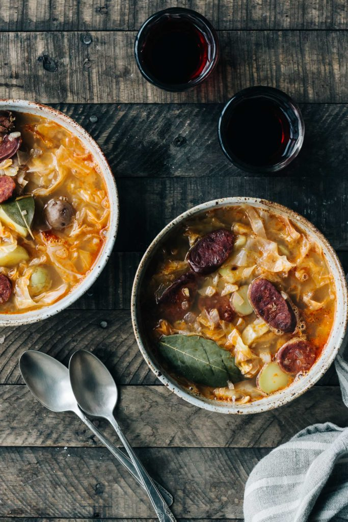Spicy Chorizo and Cabbage Stew