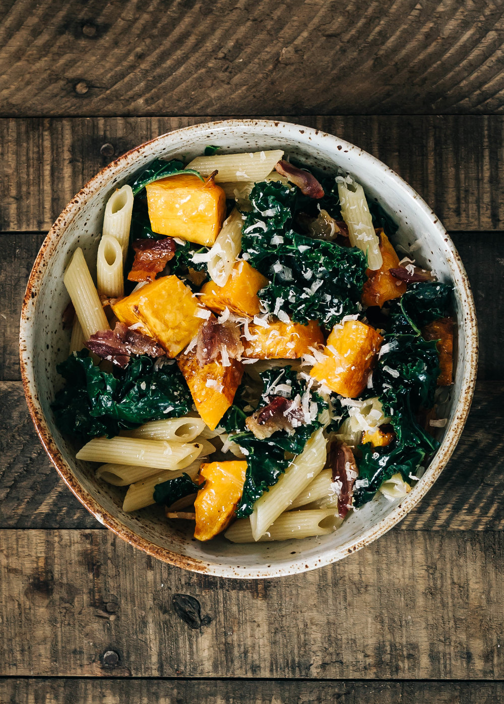 Penne with Butternut Squash and Bacon