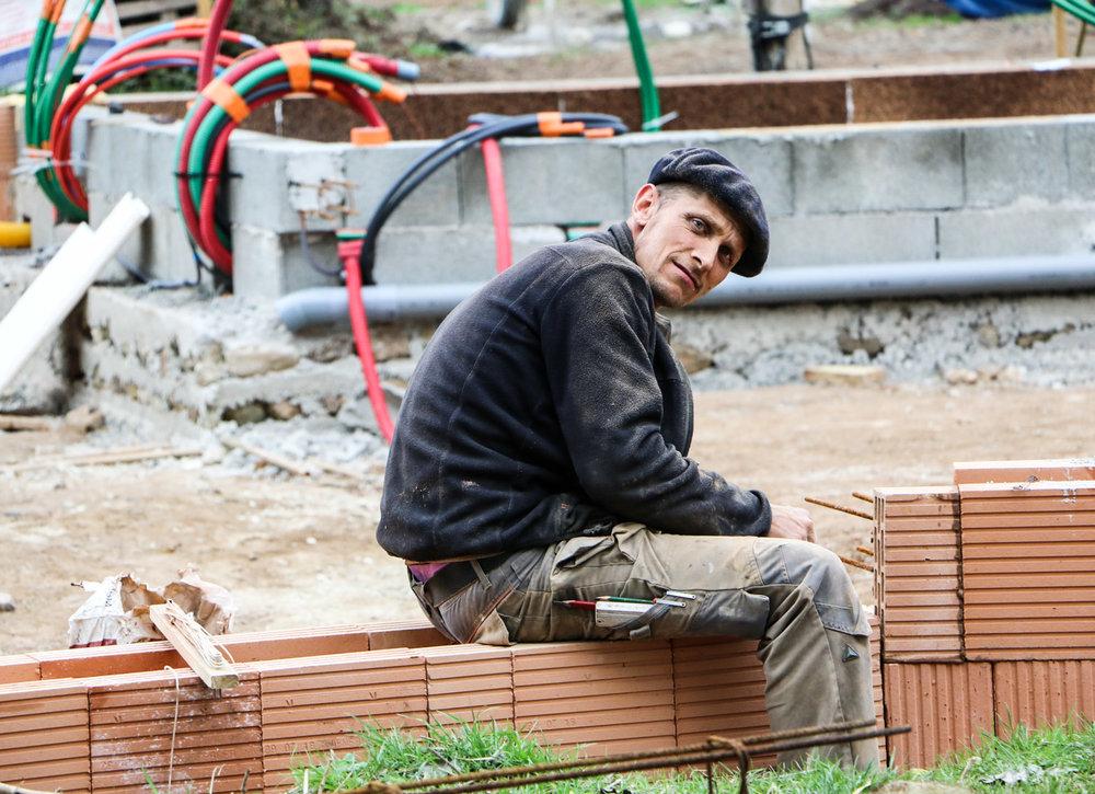 Jean Bacourt, tailleur de pierre, chef du chantier