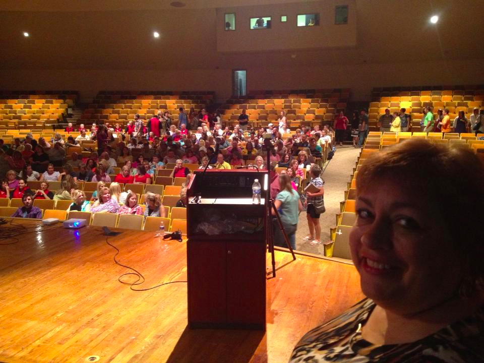August 2015 - Teachers arriving for opening year Keynote - Rawlins, WY