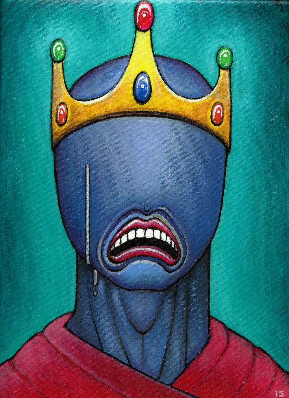 "$ ""The King,"" 2015, acrylic on canvas."