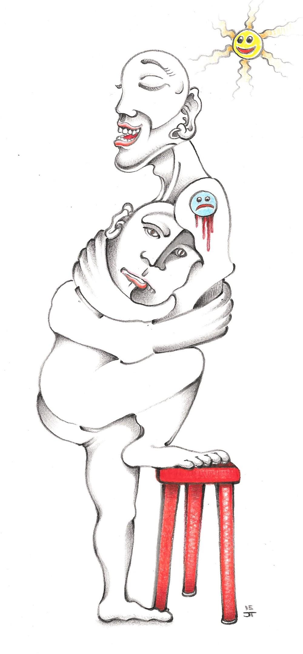 """It's Okay"" 2015, pencil on paper."