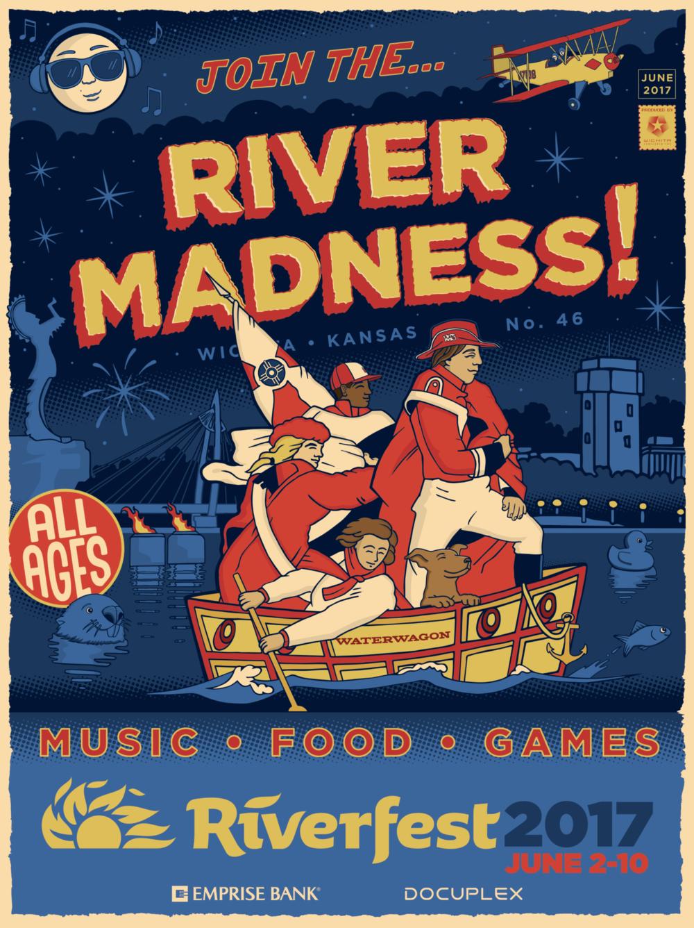 """River Madness"" Lupoli, 2017, digital."