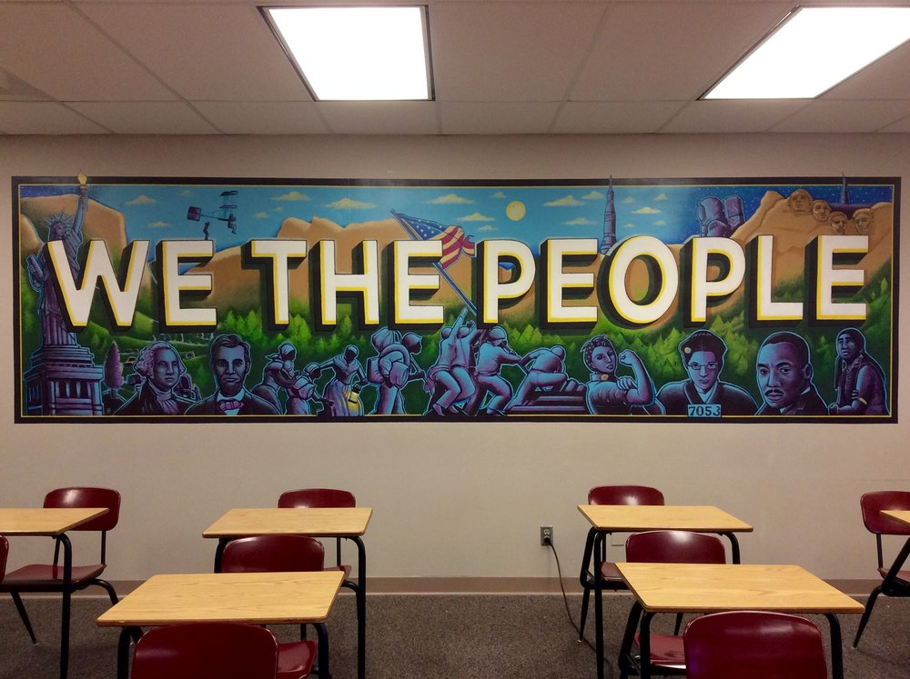 """We the People"" Tripoli / Arts Partners, 2017; Collegiate Upper School."
