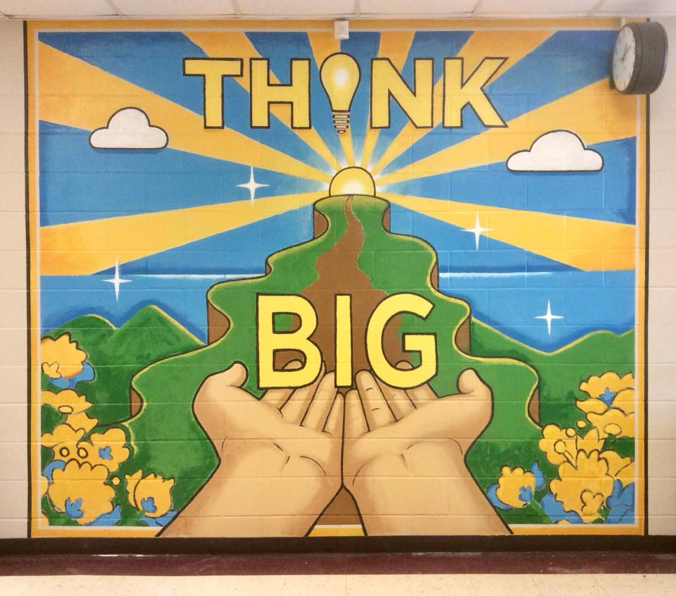"""Think BIG"" Tripoli / Arts Partners, 2018; Franklin Elementary."