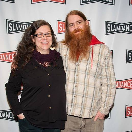 Kimberly Henninger and Shawn Parke at Slamdance for the closing screening of Embers.