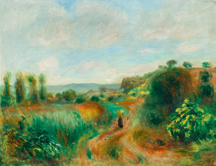 """Pierre-Auguste Renoir, """"Paysage À Cagnes"""""""