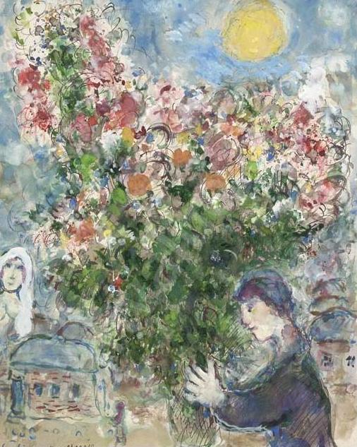 """Marc Chagall,  """"LE PRÉTENDANT"""""""