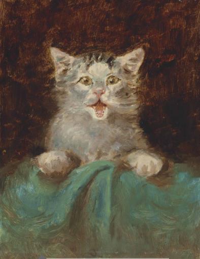 """Henri De Toulouse-Lautrec, """"Un Petit Chat"""""""