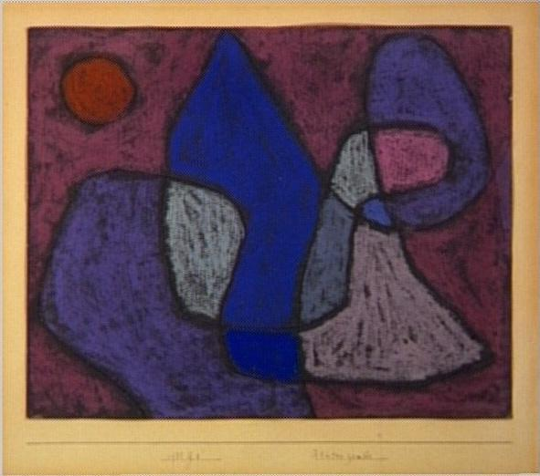 Paul Klee,  Blüten Zauber   (1933) Photo: Centre Pompidou
