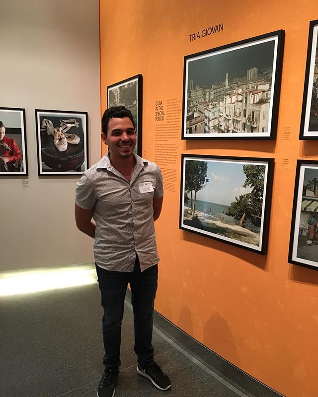 Artist Roger Toledo in town showing us his actual home in a photo at the Annenberg CUBA is exhibit . . . #artist #artistsinmind #art #artgallery #artlife #artbloggers #exhibit #cuba #home #life #lifestyle #lifestyleblogger #bloggers #cubanart #cubanartist #photography