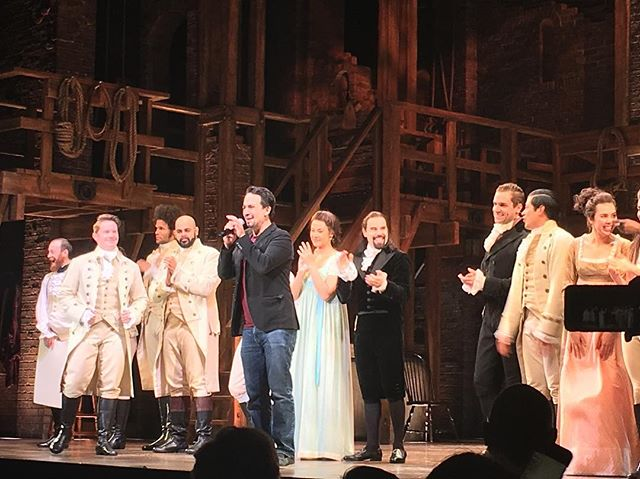 Hamilton last night w special appearance with Lin-Manuel Miranda supporting HIV and hurricane relief for Puerto Rico . . . #Hamilton #HIV #Hurricane #puertorico #support #theatre #theaterarts #art #artlife #lifestyle #lifestyleblogger