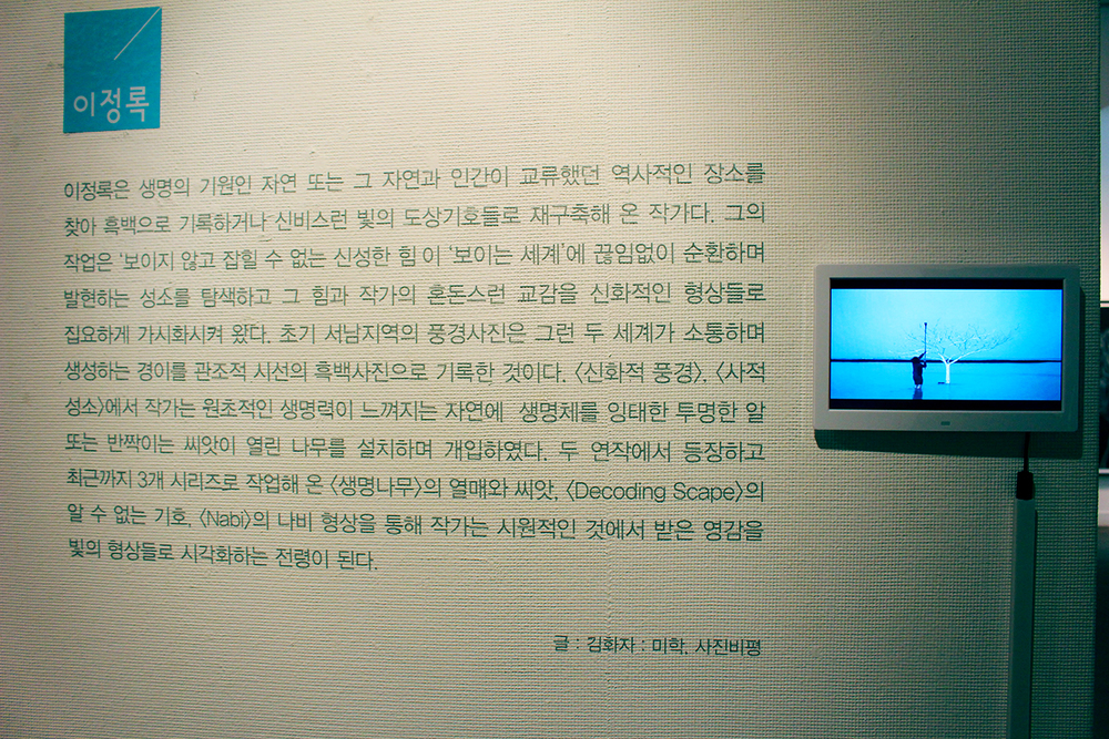 Also on view: video explaining the artist's process