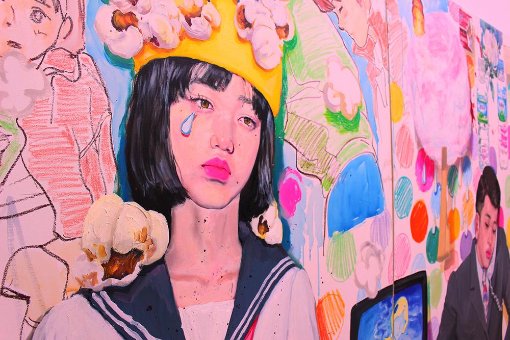 detail of 'Pop Popop Popopop Pop' oil on canvas 2015