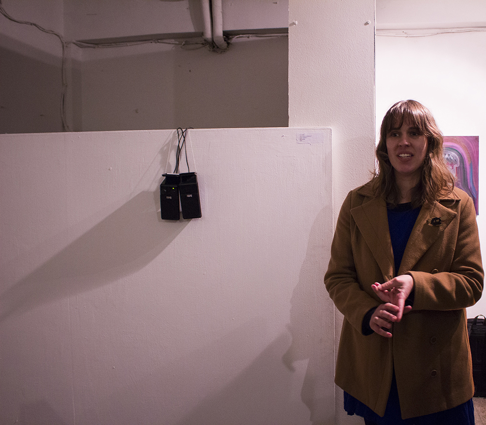 Amy Smith talks about her piece at Mayfly 8