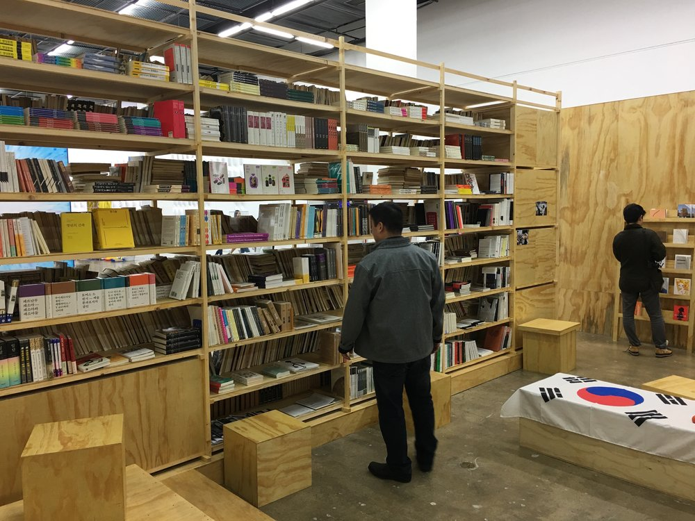 Dora García and The Book Society, Nokdu Bookstore for the Living and the Dead,2016